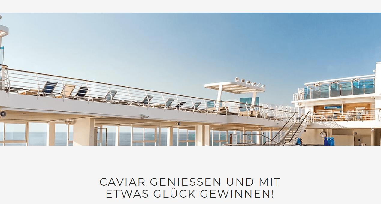 AKI Caviar Gewinnspiel: 1x Kreuzfahrt und 2x Kurzreise gewinnen!