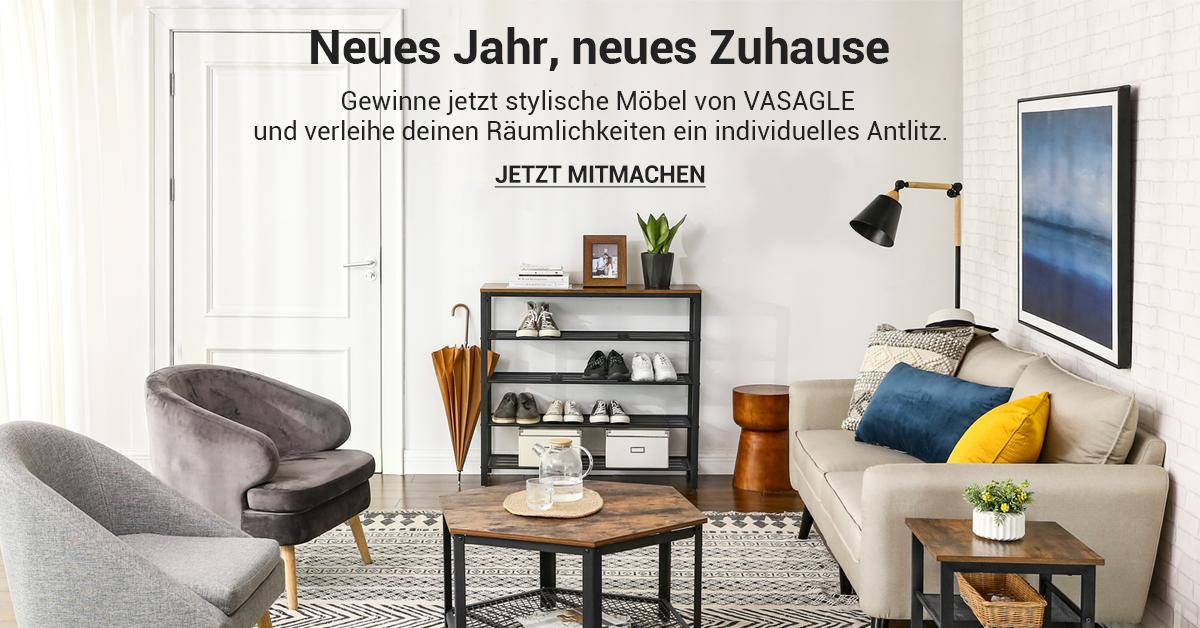 Neues Jahr, neues Zuhause: Jetzt 1 von 16 Möbeln im Gesamtwert von 950 € gewinnen!