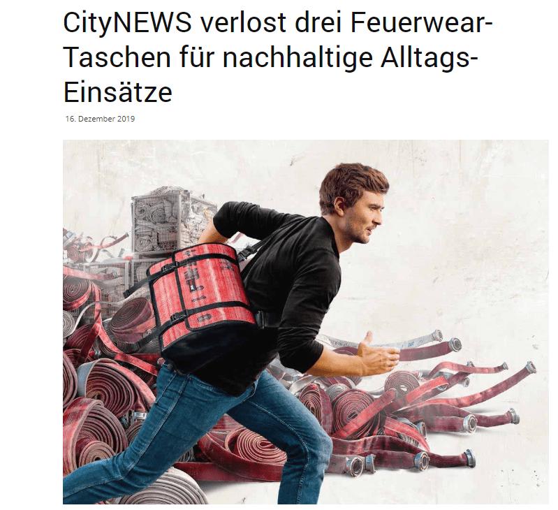 CityNews Gewinnspiel: 3 Feuerwear Taschen gewinnen!