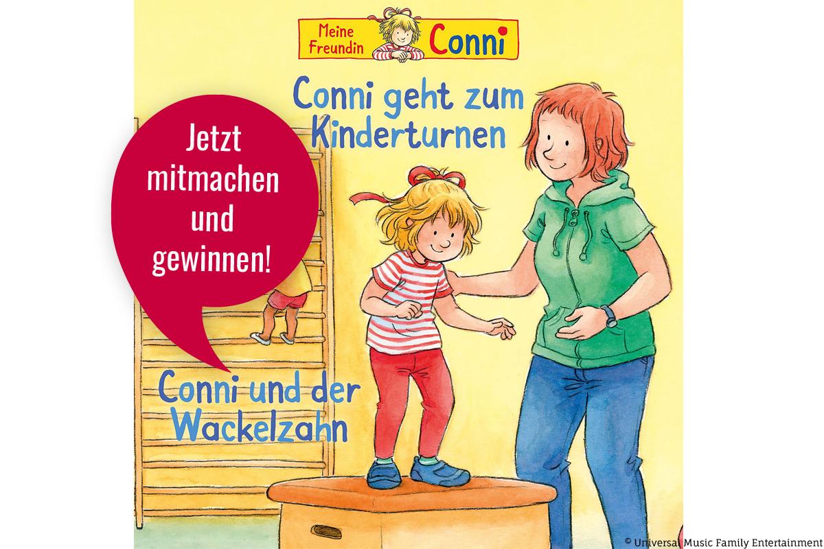 """Gewinnt eins von drei Hörspielen """"Conni geht zum Kinderturnen/Conni und der Wackelzahn""""!"""