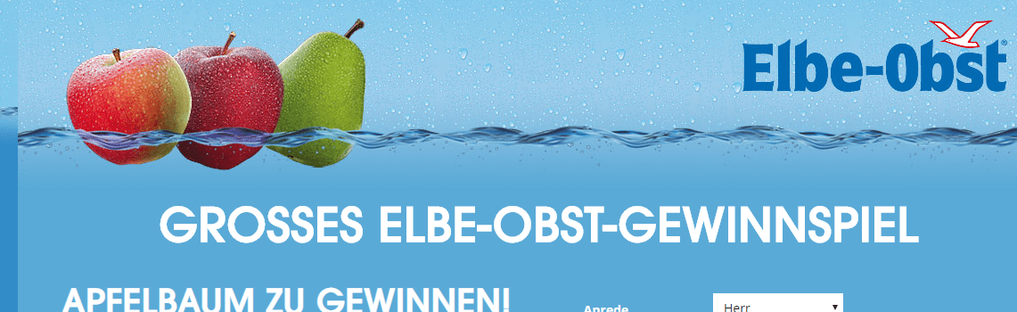 Elbe-Obst Gewinnspiel: 100 Apfelbäume gewinnen!