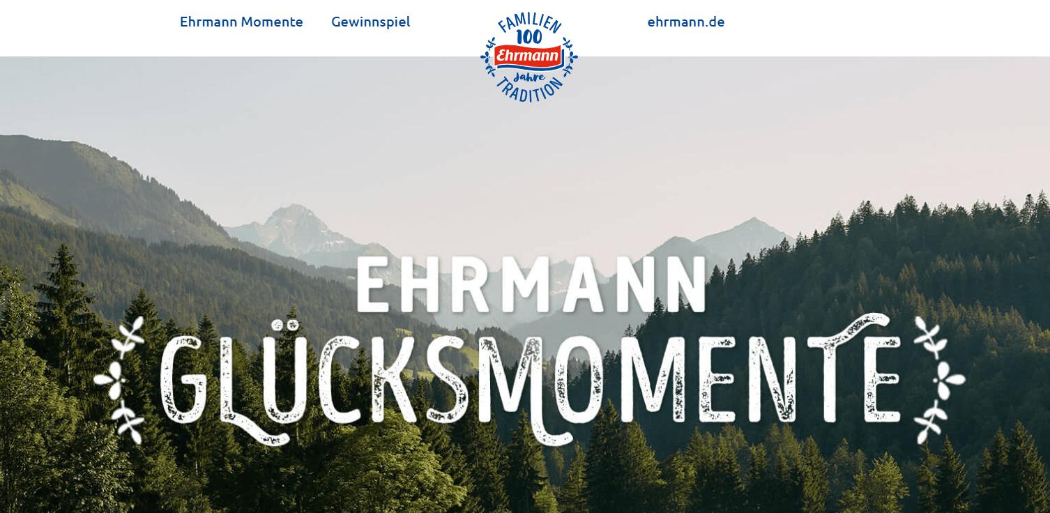 Ehrmann Gewinnspiel: Jeden Monat 10.000€ gewinnen! 100.000€ für Hauptgewinner!
