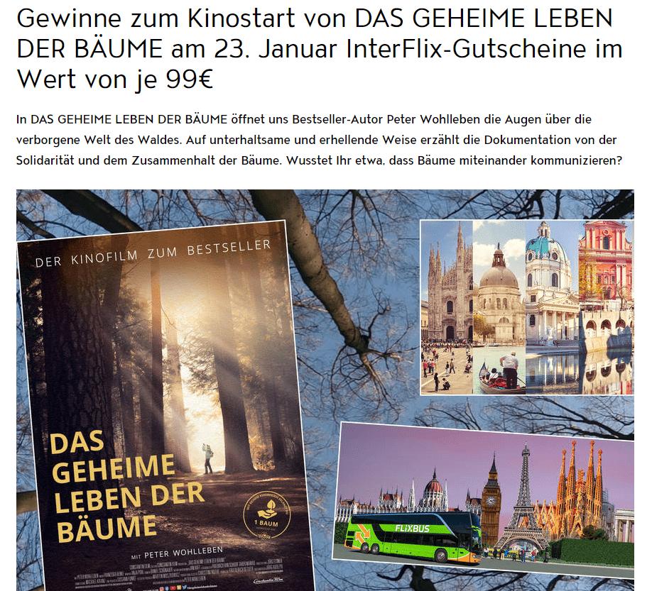 Jolie Gewinnspiel: 4 InterFlix-Gutscheine (99€) + 2 Kinokarten gewinnen!