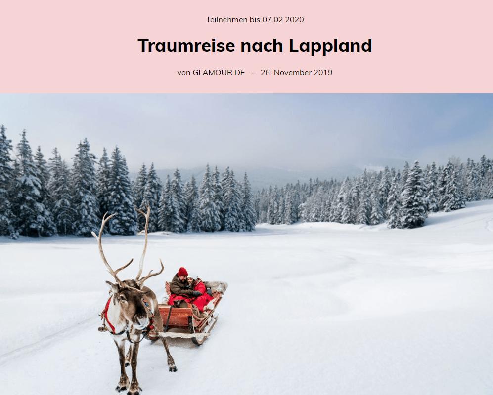 GLAMOUR Gewinnspiel: 2x Lappland Erlebnisreise für 2 Personen gewinnen!