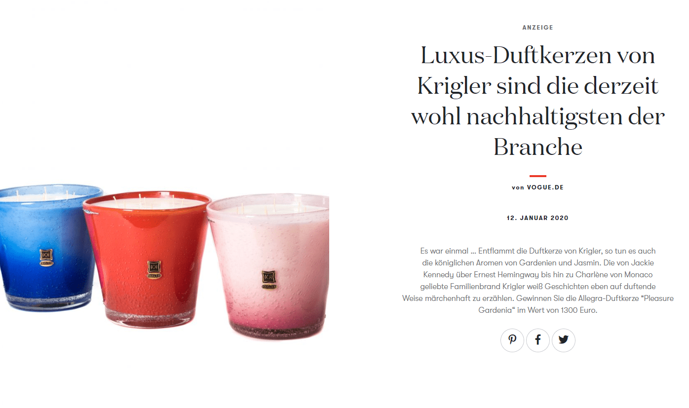 Unfassbar teure Luxus Duftkerze für 1.300€ gewinnen!
