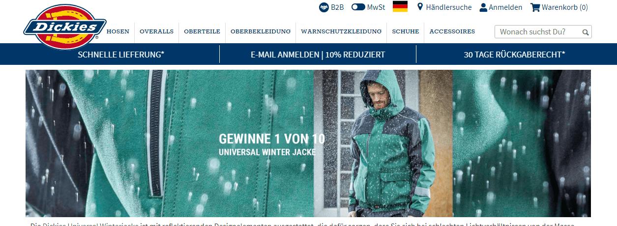 Dickies Gewinnspiel: 10 Universal-Winterjacken gewinnen!