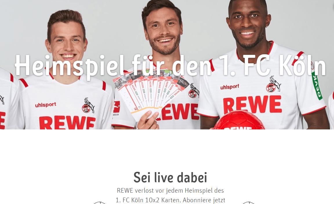 REWE Gewinnspiel: 10 x 2 Karten für Heimspiel des 1. FC Köln gewinnen!