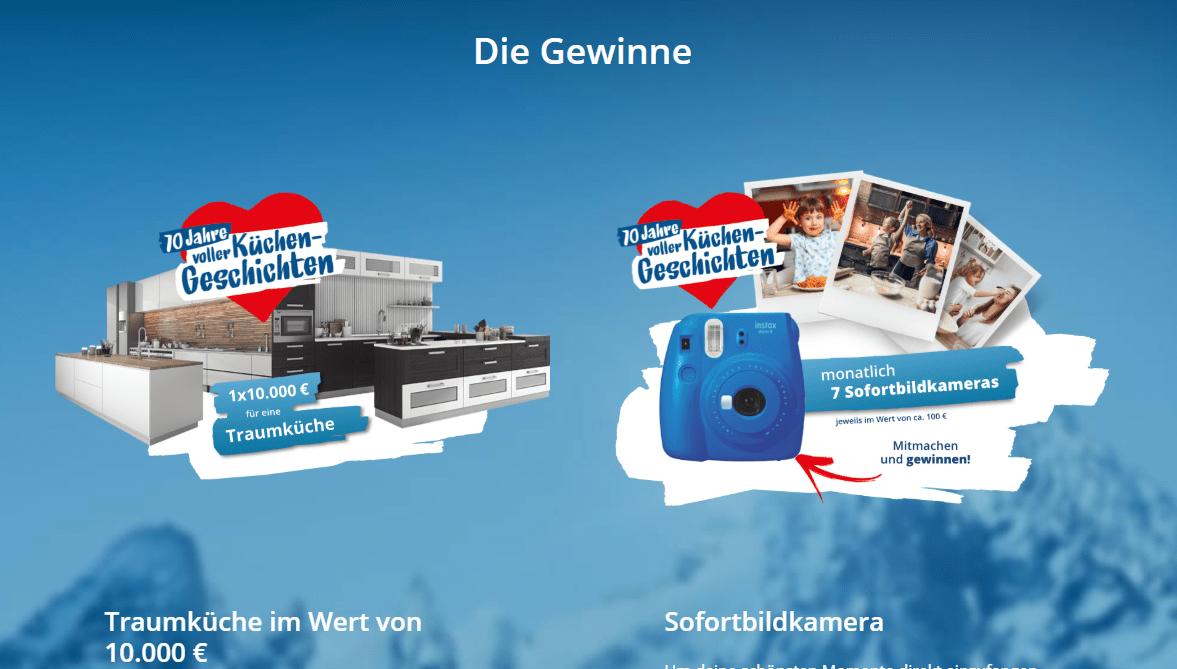 Bad Reichenhaller Gewinnspiel: 1x 10.000€ Traumküche und Sofortbildkameras gewinnen!