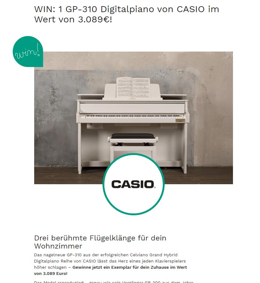 COUCH Gewinnspiel: 1x Digitalpiano im Wert von 3.89€ gewinnen! (Nur noch HEUTE!)