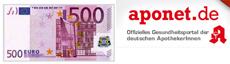Aponet Gewinnspiel: Jetzt  500 Euro gewinnen