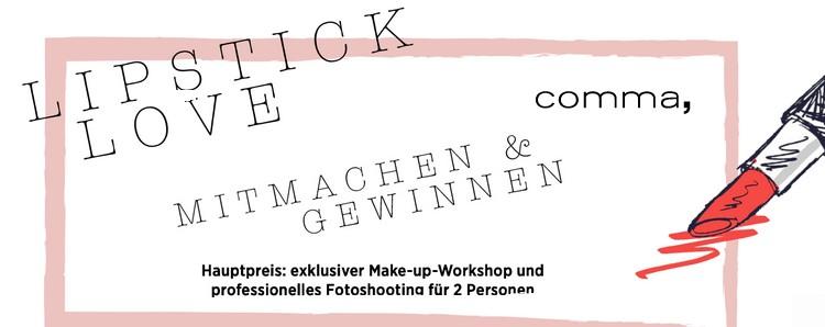 comma Gewinnspiel: Jetzt Make-Up-Workshop und Einkaufsgutscheine sichern