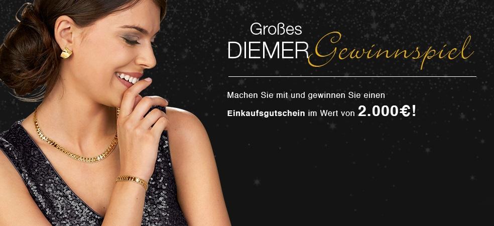 Goldschmuck für 2000,- Euro! Gewinne diesen Einkaufsgutschein bei Diemer
