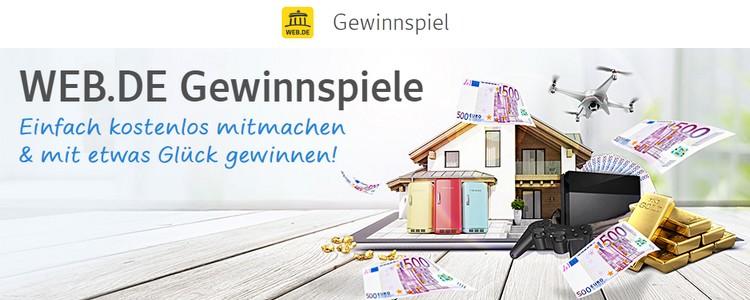 web.de Gewinnspiel:  300.000€ gewinnen und 20 Jahre mietfrei leben