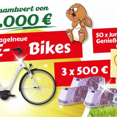 Jungborn Gewinnspiel: E-Bikes, Bargeldpreise und Gutscheine zu gewinnen