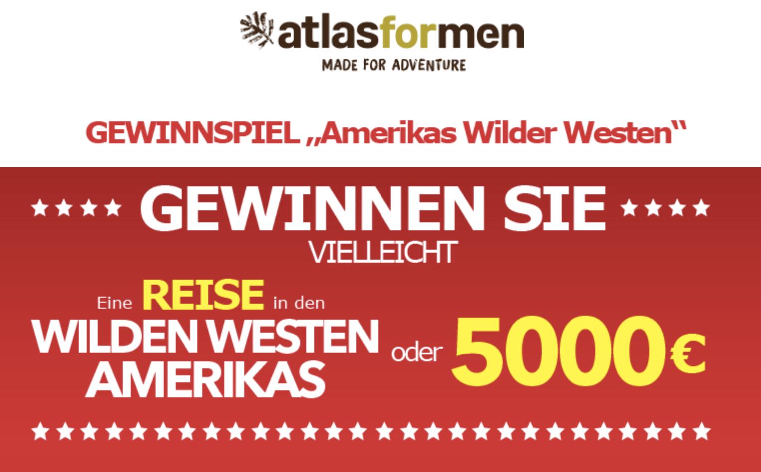 Atlas for Men Gewinnspiel: Amerikareise oder 5.000€ zu gewinnen