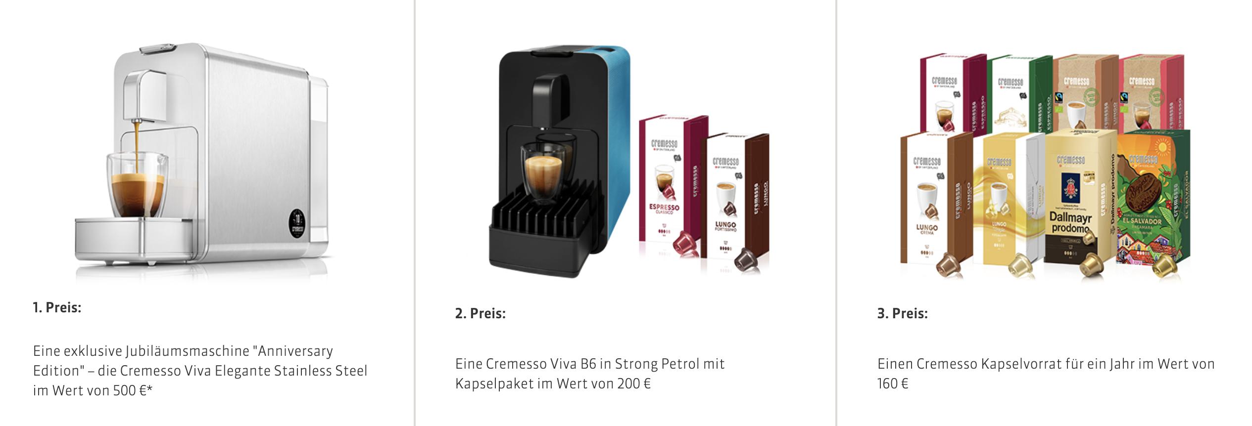 Gewinnspiel Kaffeemaschine