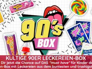 90er-box.de Gewinnspiel: kultige 90er Leckereien-Box zu gewinnen