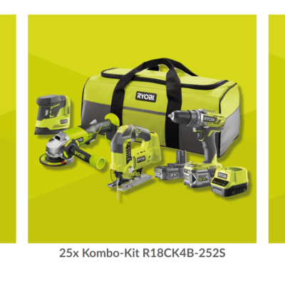 RYOBI Gewinnspiel: Gartengeräte und Werkzeug im Wert von 1.500 EURO zu gewinnen