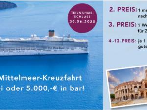 Meyermode Gewinnspiel: Reisen und Gutscheine im Gesamtwert von ca. 10.000 Euro zu gewinnen