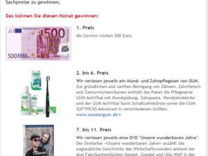 aponet Gewinnspiel: 500 Euro in Bar, 5 Zahnpflegesets und DVDs zu gewinnen