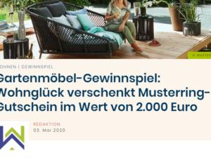 Wohnglück Gewinnspiel: Möbelgutschein von Musterring im Wert von ca. 2.000 Euro zu gewinnen
