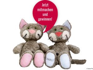 krabbelbunt.de Gewinnspiel: eine von 3 Plüschkatzen von Steiner Plüschtiere zu gewinnen