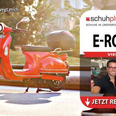schuhplus Gewinnspiel: einen von drei emco E-Rollern zu gewinnen