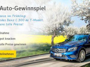 web.de Gewinnspiel: nagelneuen Mercedes Benz C300 de T-Modell zu gewinnen