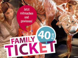 Kribbelbunt.de Gewinnspiel: 2 Familienfreikarten für Körperweltenmuseum zu gewinnen