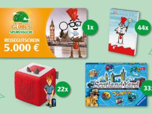 Globus Gewinnspiel: Reisegutschein und Produktpakete zu gewinnen