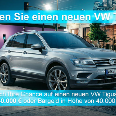 BurdaDirect Gewinnspiel: 40.000 Euro Bargeld oder VW Tiguan zu gewinnen