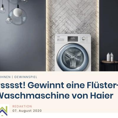 Wohnglück Gewinnspiel: Waschmaschine von Haier zu gewinnen