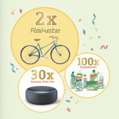 Henkel Gewinnspiel: Fahrrad, Amazon Echo Dot und weitere Produktpakete zu gewinnen