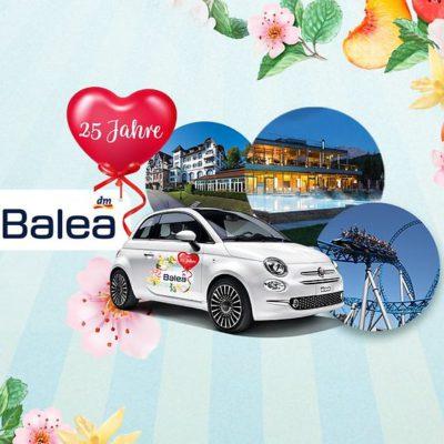 dm Gewinnspiel: Fiat 500 im Balea-Look zu gewinnen