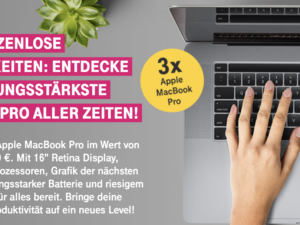 Deutsche Telekom Gewinnspiel: drei Apple MacBook Pro zu gewinnen