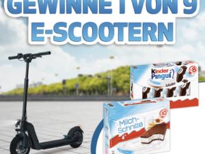Ferrero Gewinnspiel: neun E-Scooter zu gewinnen