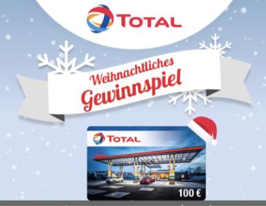 TOTAL Gewinnspiel: 15 x 100 Euro Tankgutscheine zu gewinnen