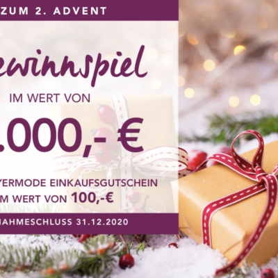 Meyermode Gewinnspiel: 100 Euro Einkaufsgutschein zu gewinnen