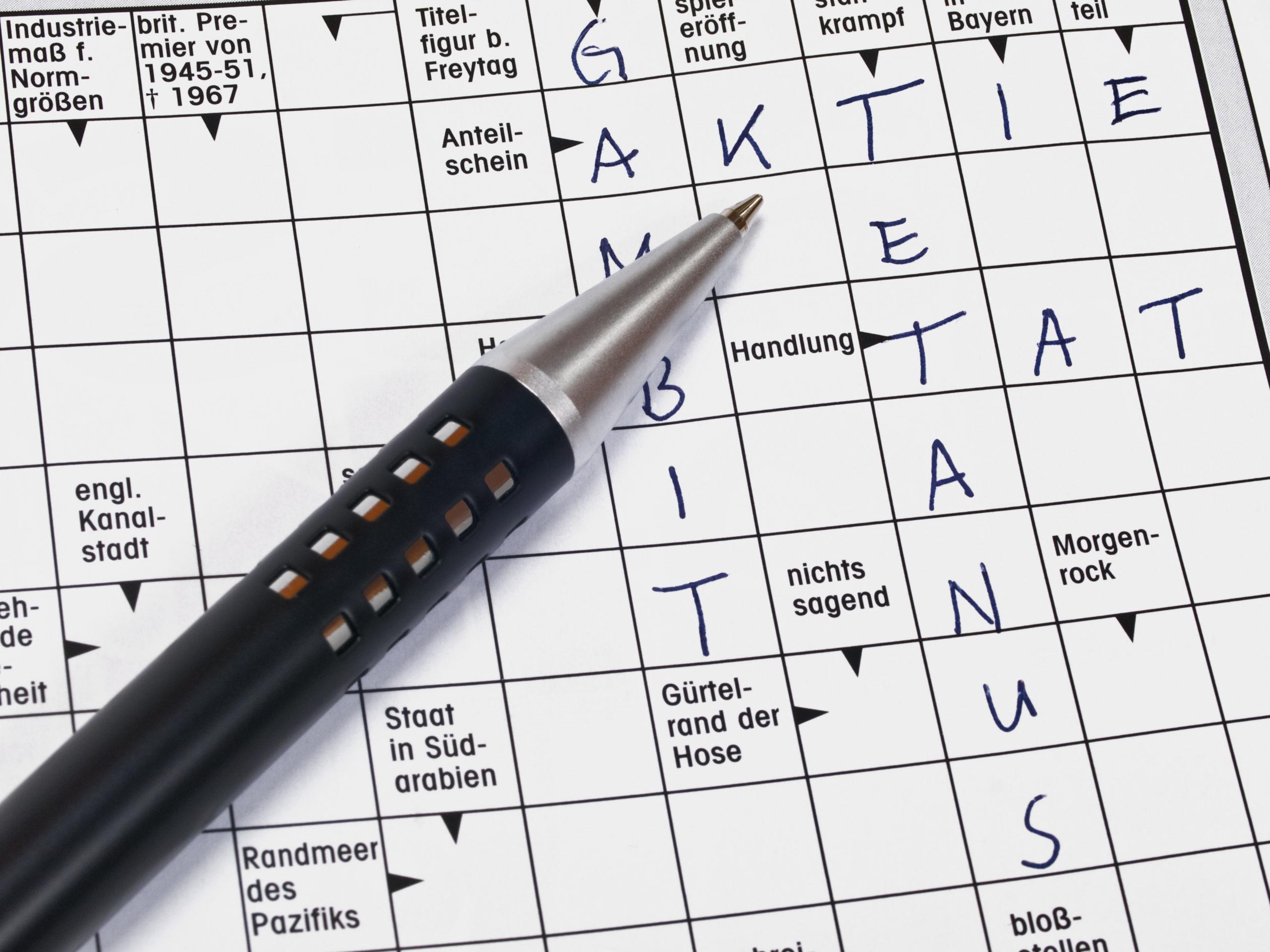 Kreuzworträtsel Gewinnspiele