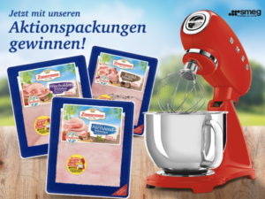 Fleischwerke Zimmermann Gewinnspiel: SMEG Küchenmaschine zu gewinnen