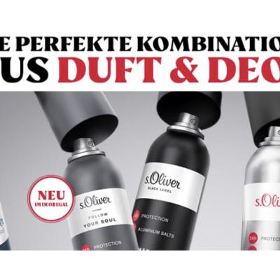 Rossmann Gewinnspiel: s.Oliver Deo-Jahresvorräte zu gewinnen