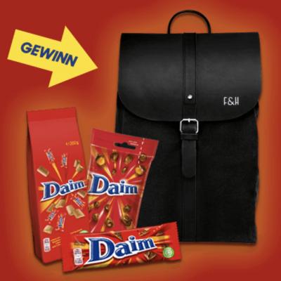 Daim Schokolade Gewinnspiel: Rucksack zu gewinnen