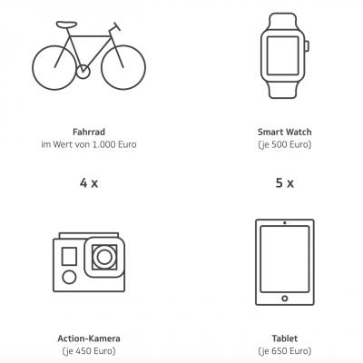 die Techniker Gewinnspiel: Fahrrad, Tablets, Kamera und noch mehr zu gewinnen