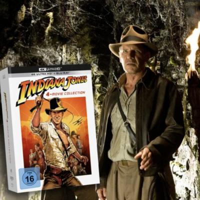 "AJOURE MEN Gewinnspiel: ""Indiana Jones 4K Ultra HD-Collection"" zu gewinnen"