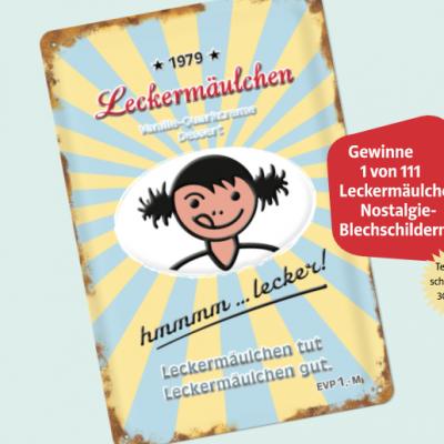 frischli Gewinnspiel: Leckermäulchen-Blechschild zu gewinnen