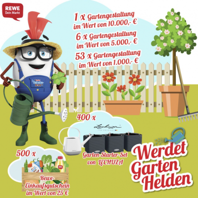 REWE Gewinnspiel: Garten-Pakete zu gewinnen