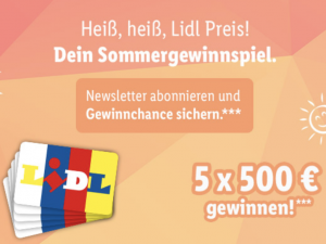 Lidl Gewinnspiel: 500 Euro Einkaufsgutscheine zu gewinnen