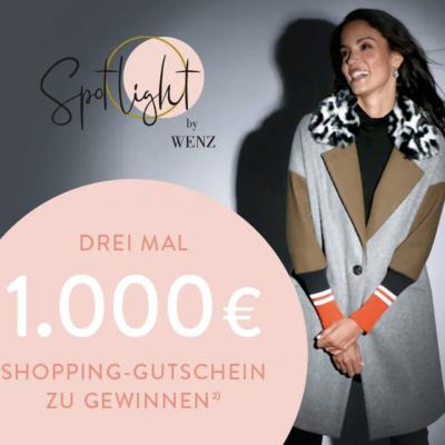 WENZ Gewinnspiel: 1000 EUR Shopping-Gutschein zu gewinnen
