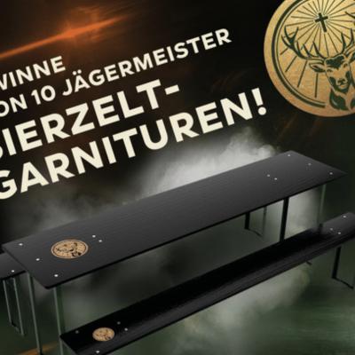tegut Gewinnspiel: Jägermeister Bierzeltgarnitur zu gewinnen