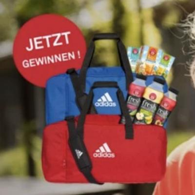 Teekanne Gewinnspiel: Adidas Sporttasche mit TEEKANNE frio oder fresh zu gewinnen